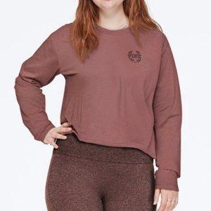 NWT VS Pink Everyday Long-sleeved Crop Tee